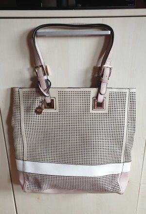 L.Credi Shopper Tasche hellbeige altrose gold - top!! OP 79€