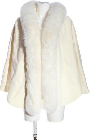 L. Cuppini Peleryna w kolorze białej wełny W stylu casual