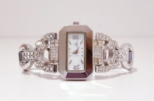 Watch With Metal Strap silver-colored metal