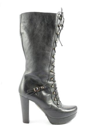 L'Estrosa Botas de tacón alto negro estilo extravagante