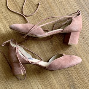 L.k. bennett Lace-up Pumps dusky pink-pink leather