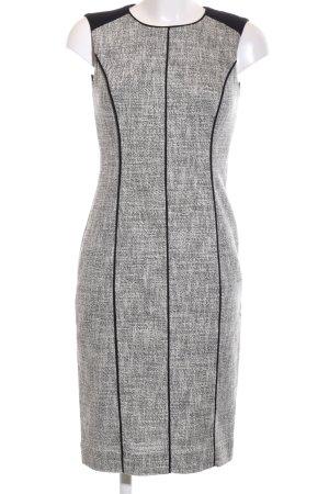 L.k. bennett Abito aderente grigio chiaro-nero puntinato stile professionale