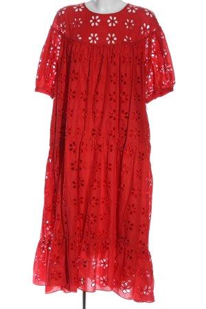 L.k. bennett Abito a maniche corte rosso stampa integrale stile casual