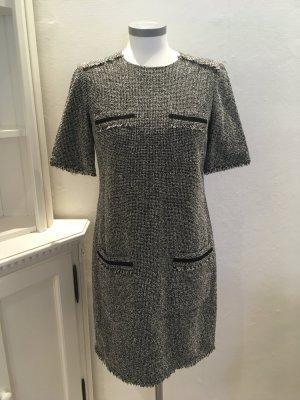 L.K. Bennett London Kleid schwarz weiß Bouclé 36 S
