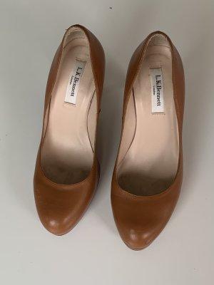 L.k. bennett Wysokie obcasy jasnobrązowy-brązowy