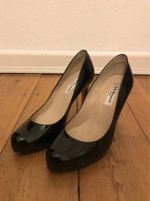 L.k. bennett Platform Pumps black leather