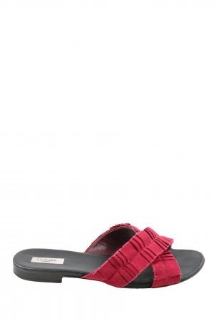 L.k. bennett Sandalias de playa rojo-negro look casual