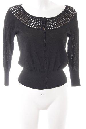 L.k. bennett Giacca in maglia nero stile casual