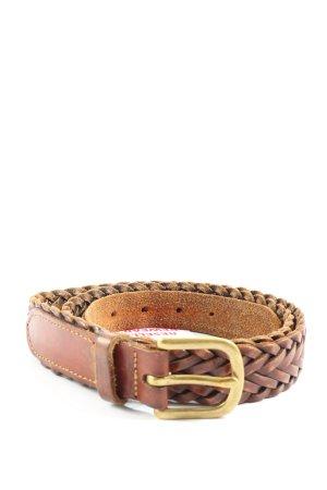 L.L.Bean Cinturón trenzado marrón look casual