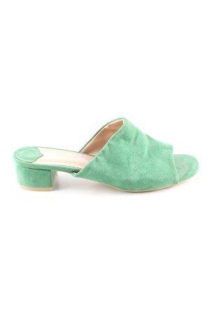 Absatz Pantoletten grün Casual-Look