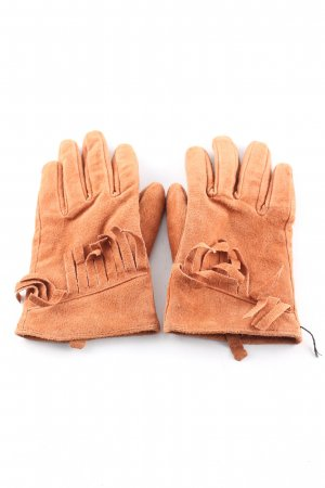 L.M.B.K. Leather Gloves light orange casual look