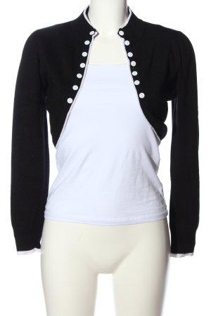 L Mode Bolerko czarny-biały W stylu casual