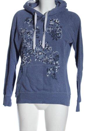 L.O.G.G. H&M Sweat à capuche bleu motif de fleur style décontracté