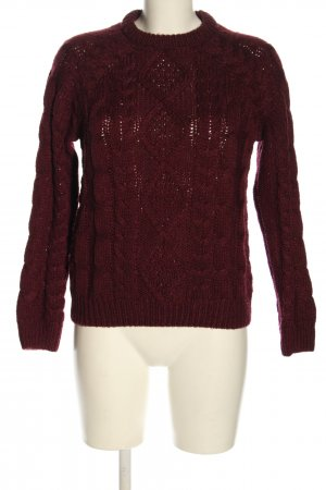 L.O.G.G. H&M Cable Sweater brown color gradient casual look