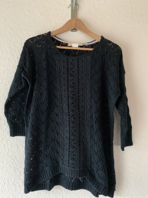 L.O.G.G Crochet Sweater dark blue