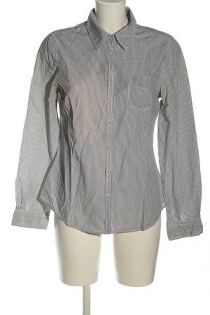 L.O.G.G Hemd schwarz-weiß Streifenmuster Casual-Look