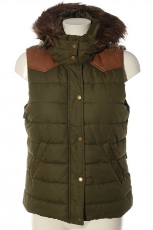L.O.G.G Hooded Vest brown quilting pattern casual look