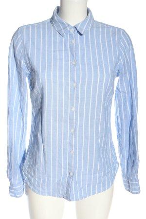 L.O.G.G Langarmhemd blau-weiß Streifenmuster Casual-Look