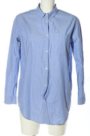 L.O.G.G Camicia a maniche lunghe blu-bianco motivo a righe stile casual