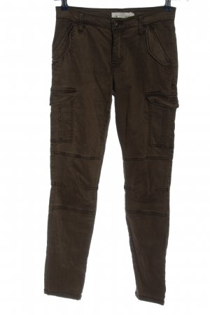 L.O.G.G Drainpipe Trousers brown casual look