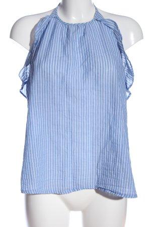 L.O.G.G Haut dos-nu bleu-blanc motif rayé style décontracté