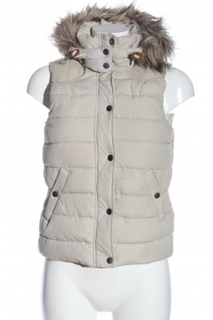 L.O.G.G Quilted Gilet natural white quilting pattern casual look