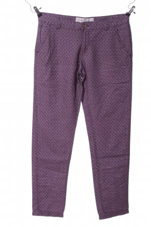 L.O.G.G Stoffhose lila Allover-Druck Casual-Look