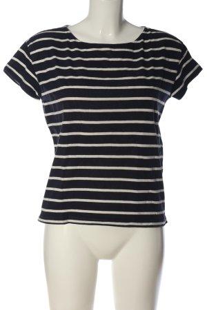 L.O.G.G T-Shirt schwarz-wollweiß Streifenmuster Casual-Look
