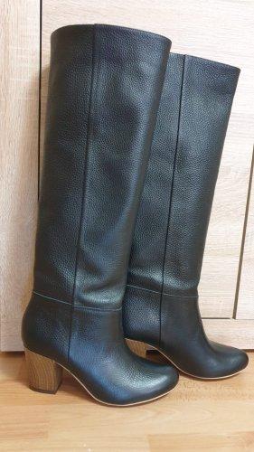 Bottes d'hiver noir cuir
