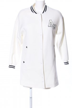 La Babité College Jacket natural white printed lettering casual look