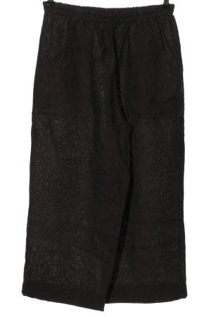 La Bass Lniane spodnie czarny W stylu casual