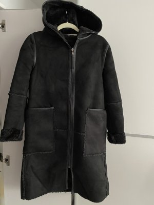 la belle Hooded Coat black