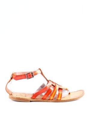 La Bottega di Lisa Toe-Post sandals light orange casual look