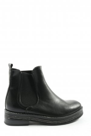 la bottine souriante Chelsea Boots black casual look