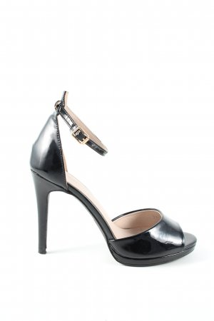 la bottine souriante Peeptoe Pumps schwarz Casual-Look
