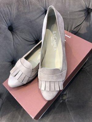 La Cabala ❤️ elegante Ballerinas Slipper taupé Leder ❤️ 36,5