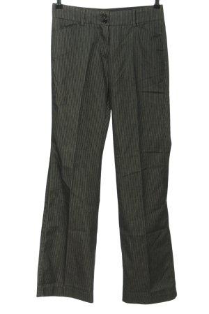 La city Marlene Trousers light grey striped pattern business style