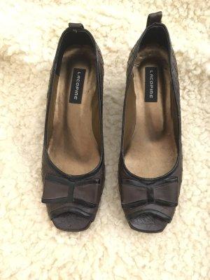 Cop Copine Peep Toe Pumps black brown-dark brown