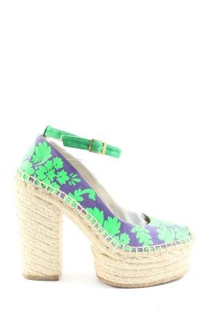 la corde blanche Espadrille Sandals flower pattern casual look