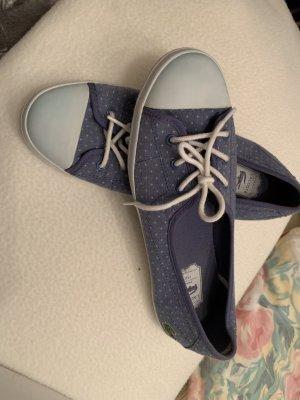 Lacoste Ballerines à bout ouvert bleu fluo fibre textile