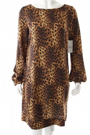 La Dress Blouse Dress brown-black leopard pattern