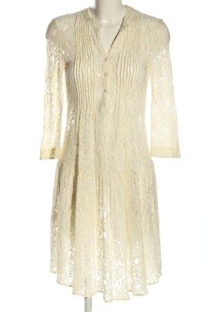 La Dress Lace Dress cream mixed pattern elegant