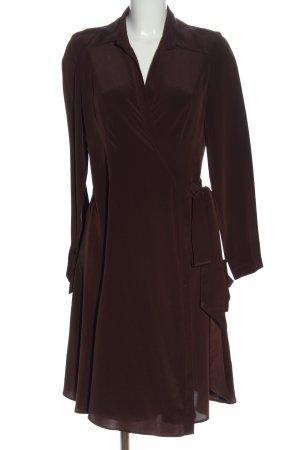 La Dress Vestido cruzado marrón elegante