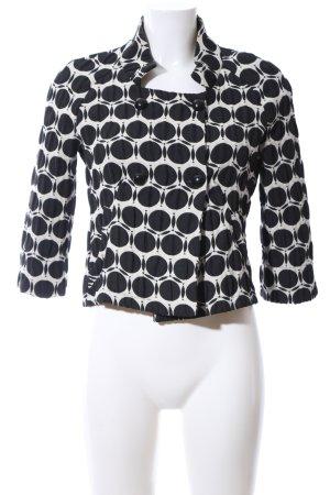 la fée maraboutée Blouson black-natural white abstract pattern casual look