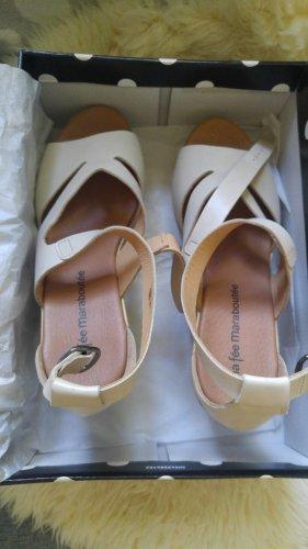 La Fee Maraboutee Damen Sandale mit Keilabsatz in Nude