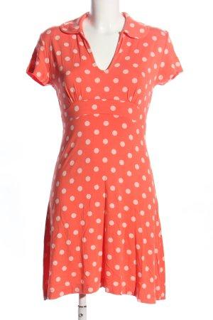 la fée maraboutée Jerseykleid rot-weiß Punktemuster Casual-Look
