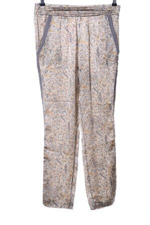 la fée maraboutée Pantalone palazzo color carne-grigio chiaro motivo astratto