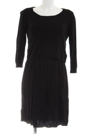 la fée maraboutée Pulloverkleid schwarz Casual-Look