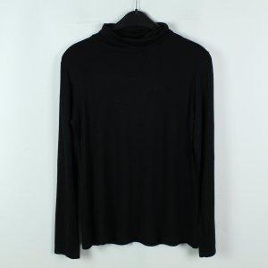 la fée maraboutée Camisa de cuello de tortuga negro Viscosa