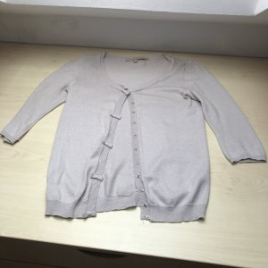 Lafee Maraboutee Short Sleeve Knitted Jacket light grey